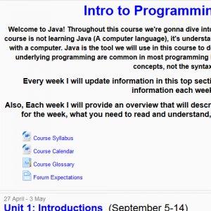 Intro to Programming LMS