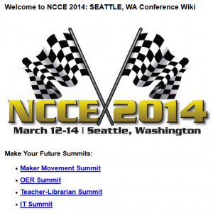 NCCE Conference 2014 - a great professional development experience