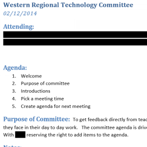 Artifact #2: Technology Committee
